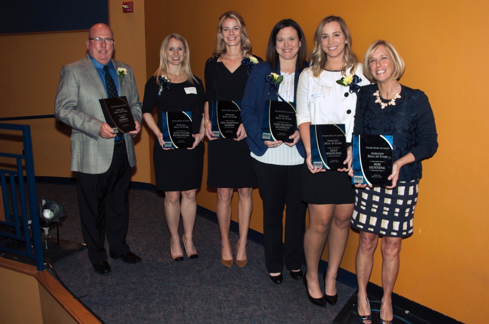 All 2017 Athletics Hall of Fame Recipients at the Notre Dame Academy catholic all-girls school in Covington, Northern Kentucky.