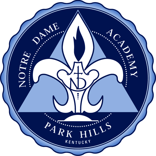 The official school seal of Notre Dame Academy catholic all-girls school in Covington, Northern Kentucky.