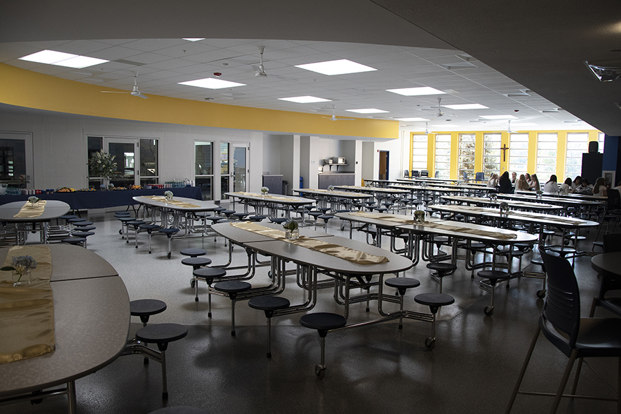 The Longshore dining hall at the all catholic girls school in Covington, Northern Kentucky.