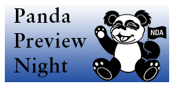 Flyer for the Panda Preview Night event at the Notre Dame Academy catholic all-girls school in Covington, Northern Kentucky.