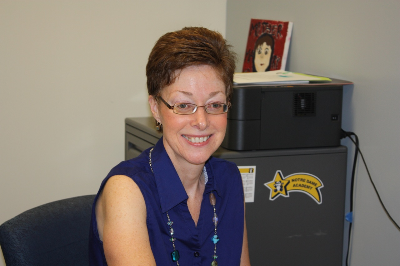 Katie Caccavari, Director of Admissions in her office at Notre Dame Academy catholic all girls school in Covington, Northern Kentucky.