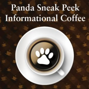 Flyer for the Sneak Peek Informational Coffee event for parents of prospective students at Notre Dame Academy catholic all-girls school in Covington, Northern Kentucky.