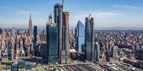 View of the Hudson Yards complex in New York City designed by Kateylyn Stenger, alumnae from the Notre Dame Academy catholic all-girls school in Covington, Northern Kentucky