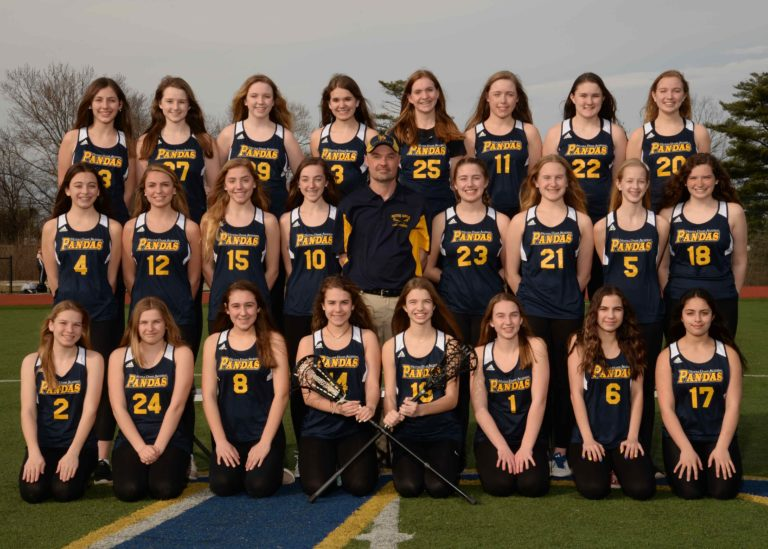 Freshman lacrosse team photo at the Notre Dame Academy catholic all-girls school in Covington, Northern Kentucky.