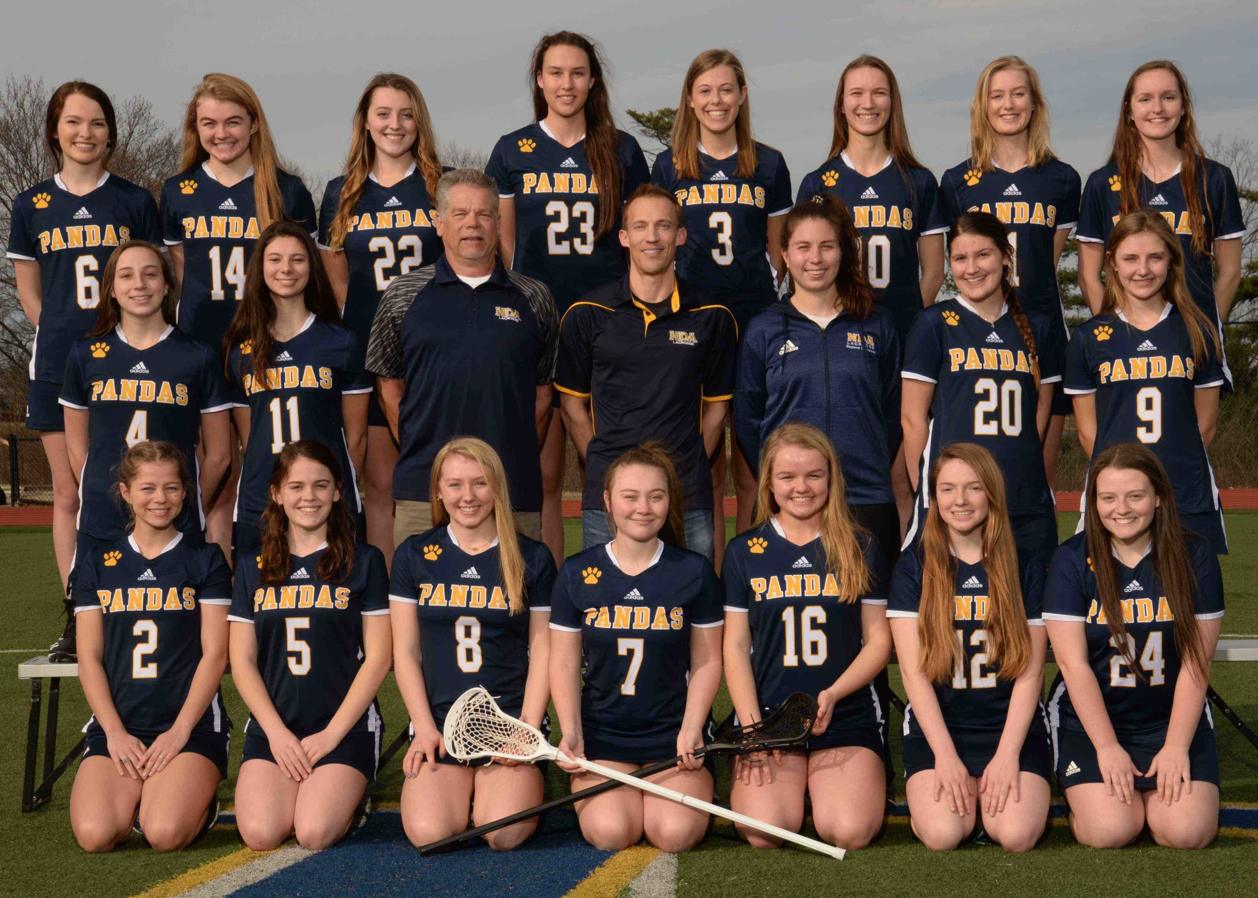 One of the lacrosse teams at Notre Dame Academy catholic all-girls school in Covington, Northern Kentucky.