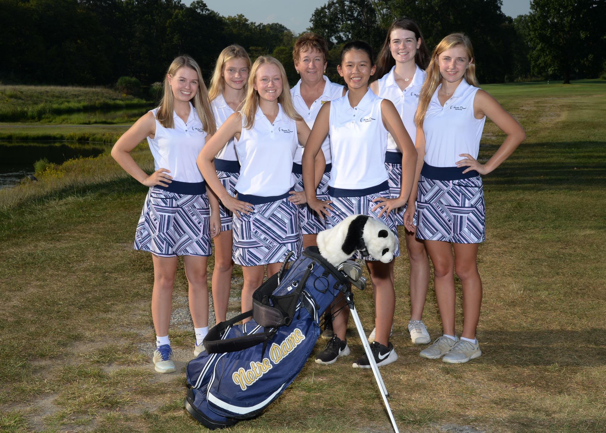 The 2020 Varsity Golf team, at the Notre Dame Academy catholic all-girls school in Covington, Northern Kentucky.