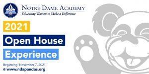 NDA Open House 2021 Graphic