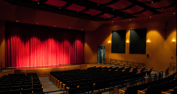 The performing arts theater at Notre Dame Academy catholic all-girls school in Covington, Northern Kentucky.
